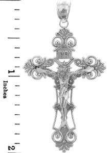 Sterling Silver Crucifix Pendant Necklace- The Savior Crucifix