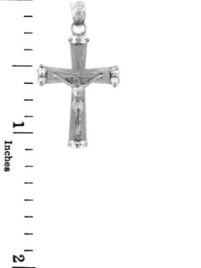 Sterling Silver Crucifix Pendant Necklace- The Sacred Crucifix