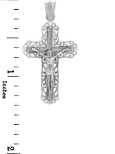 Sterling Silver Crucifix Pendant Necklace- The Ever After Crucifix