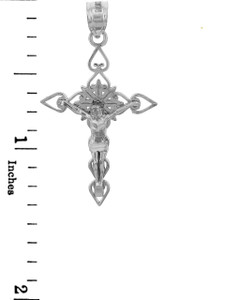 Sterling Silver Crucifix Pendant Necklace- The Good Shepherd Crucifix