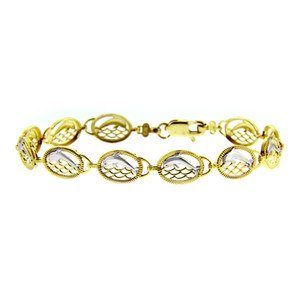 Two-Tone Gold Bracelet - The Dolphin Two-Tone Bracelet