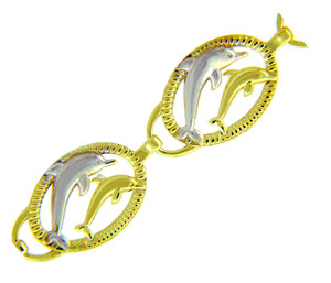 Two Tone Gold Bracelet - The Two Dolphins Bracelet