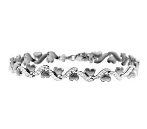 White Gold Bracelet - The Mini Hearts Bracelet