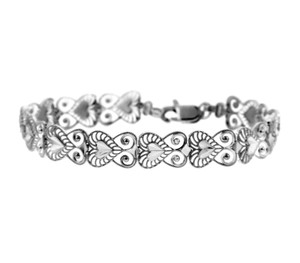 White Gold Bracelet - The Fancy Heart Bracelet