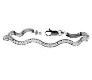 White Gold Bracelet - The Smooth Peace Bracelet