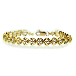 Yellow Gold Bracelet - The Heart Bracelet