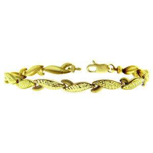 Yellow Gold Bracelet - The Lobster Claw Bracelet
