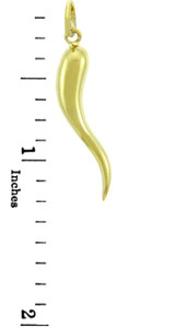 14K Gold Cornu Charm Pendant