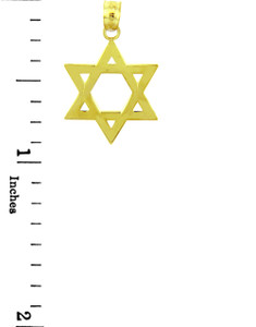 Jewish Charms and Pendants - The 14K Gold Classic Star of David Pendant