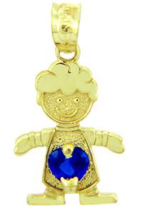 Little Boy Blue Birthstone Charm