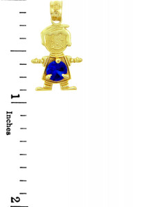 Baby Boy Blue Birthstone Charm