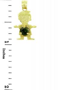 CZ Round Emerald Baby Charm