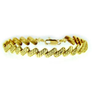 Yellow Gold Bracelet - The Diagonal Bracelet