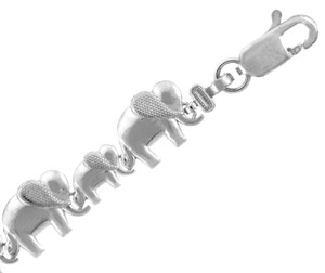 White Gold Bracelet - Elephant March Bracelet