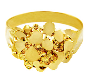 Men's Stoic Solid Gold Nugget Ring