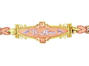 Tri-Color Gold Bracelet - The Te Amo Diamond Cut Bracelet