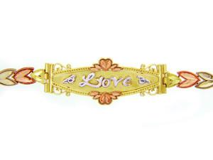Tri-Color Gold Bracelet - The Lots of Love Diamond Cut Bracelet