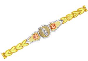 Tri-Color Gold Bracelet - The Virgin of Guadalupe Diamond Cut Bracelet