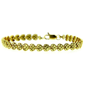 Yellow Gold Bracelet - The Cross My Heart Bracelet