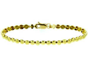 Yellow Gold Bracelet - The Classic Pearl Link Bracelet