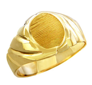 Men's Roman Solid Gold Signet Ring