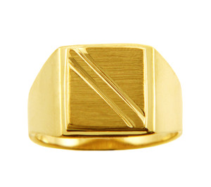 Solid Gold Men's Jove Signet Ring