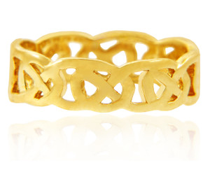 Gold Quadrum Trinity Ring for Women