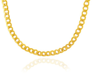 Gold Chains: Hollow Cuban 10K Gold Chain 3.36mm