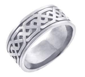 Men's Celtic Band - Silver Celtic Knot Ring