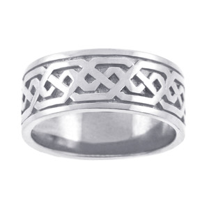 Women's Celtic Band - Silver Celtic Knot Ring