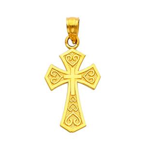 14K Gold - The Chaste Cross pendant