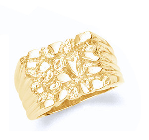 Gold Mens Nugget Ring