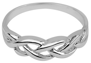 White Gold Trinity Weave Ring