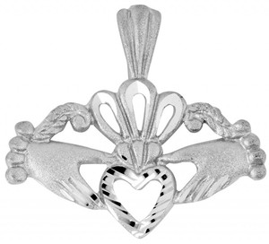 Claddagh White Gold Pendant