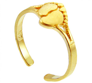 Toe Ring Gold Foot Print