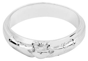 Silver Claddagh Wedding Band Mens