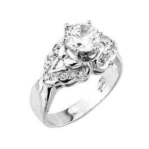 14k Gold CZ Engagement Ring