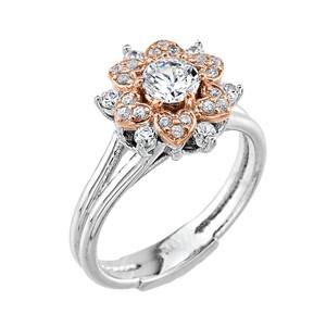 14k Gold Diamond Engagement Ring