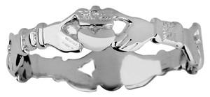 Silver Claddagh Eternity Ring Ladies.