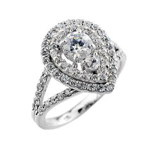 14k Gold Diamond Engagement Proposal Ring