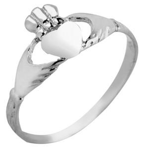 Silver Claddagh Baby Ring