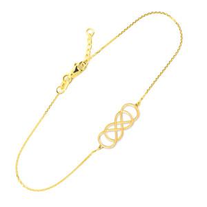 Gold Double Knot Infinity Bracelet