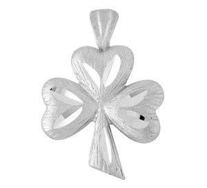 Clover Leaf Celtic Silver Pendant
