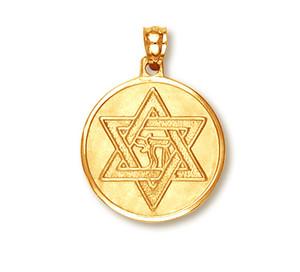 Yellow Gold Star of David Pendant4