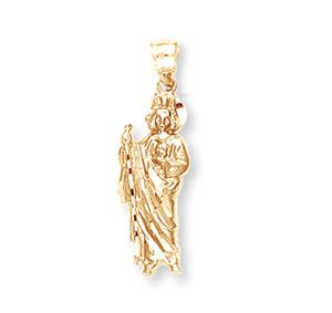 Yellow Gold Saint Jude  Pendant