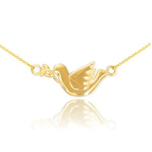 14K Gold Dove Necklace