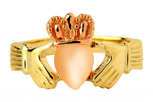 Two-Tone Claddagh Ring