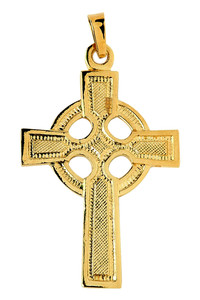 Gold Celtic Cross Pendant Necklace