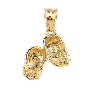 Gold Baby Girl Shoes Charm Pendant Necklace