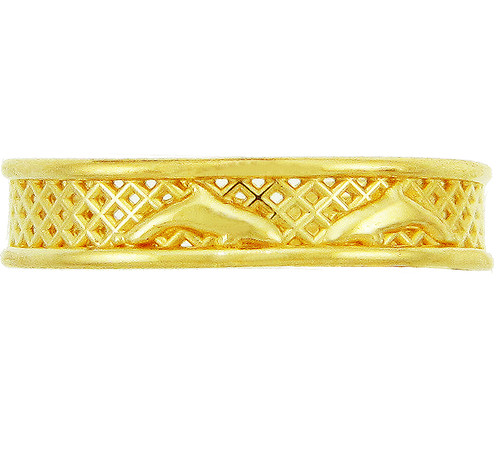 Yellow Gold Dolphin Toe Ring